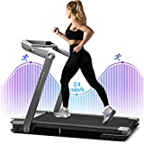 WEKEEP I1 Folding Portable Treadmill Manual Compact Walking Running Machine for Home Office Workout Electric Treadmills for Small Spaces Treadmills with LED Display Device Holder