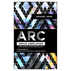 Kit Includes 7 ARC Treatments, each with 2 strips (1 upper and 1 lower) for easy application to top and bottom teeth ARC whitening strips are designed to adhere securely to teeth so there's no slipping or sliding during wear Uses the same enamel safe...
