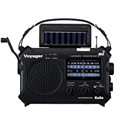 Kaito KA500 5-way Powered Emergency AM/FM/SW NOAA Weather Alert Radio with...