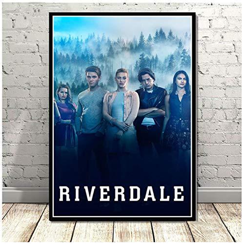 wzgsffs 2019 Hot Riverdale Season 3 Serie De TV Show Poster and Prints Arte De La Pared Impresión En Lienzo para La Sala De Estar Dormitorio En Casa-20X30 Pulgadas X 1 Sin Marco