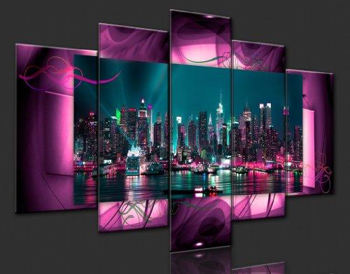 Bilder 200×100 cm – XXL Format – Fertig Aufgespannt – TOP – Vlies Leinwand – 5 Teilig – Wand Bild – Kunstdruck – Wandbild – Kunst Abstrakt 051477 200×100 cm B&D XXL - 3