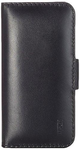 Artwizz SeeJacket Leather Handyhülle designed für [iPhone SE / 5S / 5] - Schutzhülle zum Aufklappen aus Leder mit Magnetverschluss - Schwarz