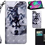 DodoBuy 3D Hülle für Samsung Galaxy A20e, Flip PU Leder Schutzhülle Handy Tasche Brieftasche Wallet Case Cover Ständer mit Kartenfächer Trageschlaufe Magnetverschluss - H&