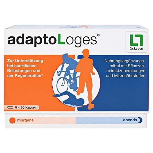 adaptoLoges Nahrungsergänzungsmittel für den Sport - 480 Kapseln, zur Unterstützung der Regeneration nach dem Sport