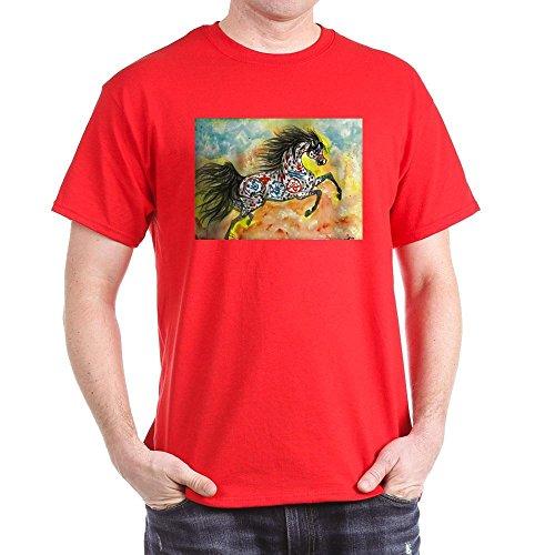 CafePress Wind Walker Appaloosa T-Shirt aus Baumwolle Gr. M, rot