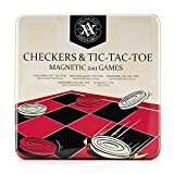 A&A Magnetic Pressman Checkers / Classic Game with Folding Board and Interlocking Checkers