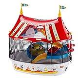 ANANAN Christmas Hamster, Circus Fun Jaula de Tres Pisos para hámsters, Ratones...