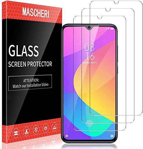 MASCHERI 3 Unidades Protector de Pantalla Compatible para Xiaomi MI 9 Lite Cristal Templado Vidrio Templado Protector Pantalla Compatible para Xiaomi MI 9 Lite Transparente