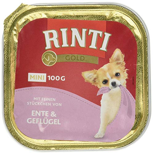 Rinti Gold mini Ente & Geflügel, 16er Pack (16 x 100 g)