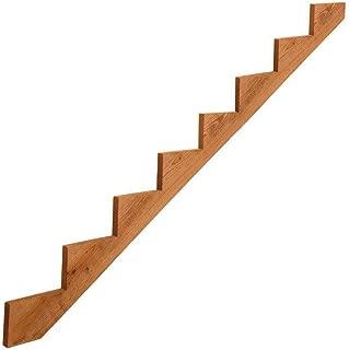 Rabinyod Bulan Precut Prebuilt Outdoor Pressure Treated Wood 8-Step Deck Porch Stair Stringer