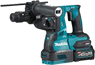 Makita HR004GD202 40V Max Li-ion XGT Brushless Rotary Hammer Complete with 2 x 2.5 Ah Batteries, Fast Charger and Dust Col...