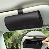 Accmor Sunglasses Holder for Car Sun Visor, Universal Auto Eyeglasses Organizer Box, Vehicle Visor Accessories Glasses Protective Storage Case with Hidden Magnetic Closure for Woman Man