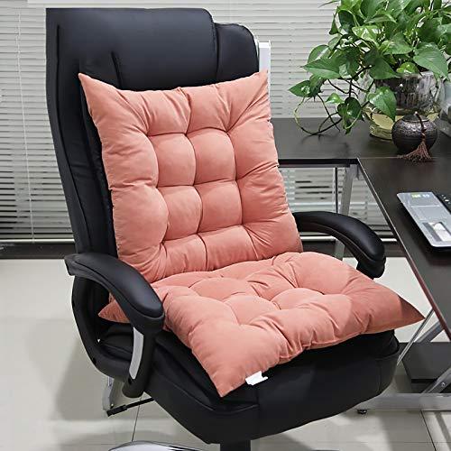 WZLJW Chair Cushion Seat Pad,Desk Chair Cushion Super Soft Durable Lumbar Support Pillow Garden Padded Seat-Orange 46x94cm