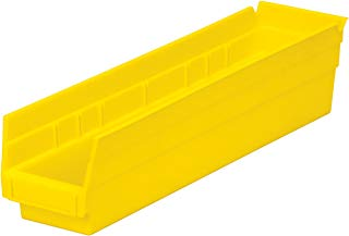 $29 » Akro-Mils 30128 18-Inch by 4-Inch by 4-Inch Plastic Nesting Shelf Bin Box,Yellow, Case of 12
