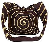 Guru-Shop Bolsa de Espiral Sadhu - Marrón, Unisex - Adultos, Algodón, Tamaño:One Size, 40x40x10 cm, Sadhu Bolsa, la Bolsa Hippie