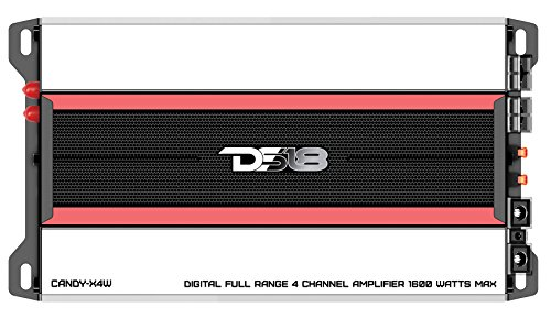 DS18 CANDY-X4W Amplifier in Black - Class D, 4 Channels, 1600 Watts Max, Digital, 2/4 Ohm - Don