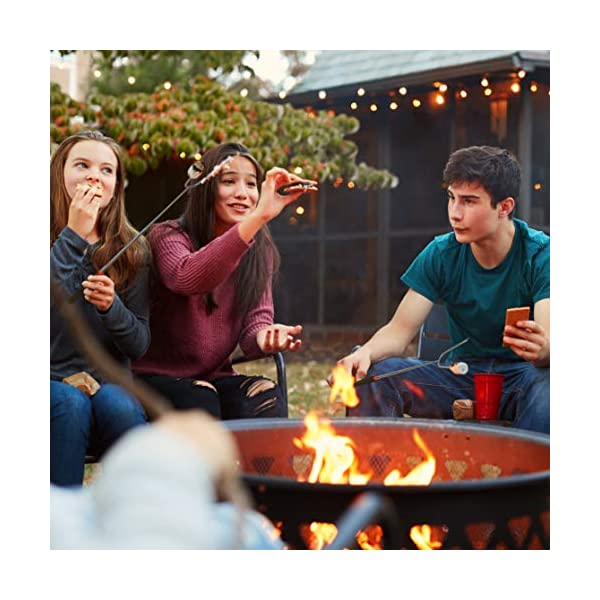 Tapirus Marshmallow Roasting Sticks – Set of 4 Telescoping Campfire Sticks - Protect Kids with Insulated Handle Holders…