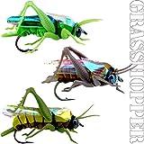 YAZHIDA 12Piezas Bionic Saltamontes seco Pesca con Mosca Moscas Insectos cebos Pesca señuelo de Pesca Trucha Muskie