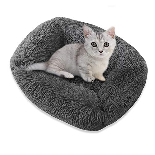 THOWALL Plush Dog Bed, Rectangle Pet Bed for Cat and Dog,Warm Cat Cushion Bed Sleeping Orthopedic Relief and Improved Sleep, Anti-Slip Bottom, Washable, Puppy Sofa for Large Medium Small Dog and Cat