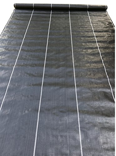 affodable Crop Weed Control Cloth UV Resistant Commercial Quality 12.5 x 300ft, Black