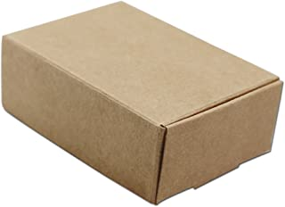 20Pcs Kraft Paper Gift Packaging Boxes Brown for Jewelry Making Pearl Candy Handmade Soap Packing Box Eco-Friendly Recyclable (9x6.5x3cm (3.5x2.6x1.2 inch))