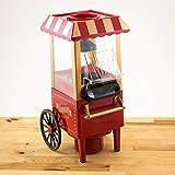 Deals-Carretto Macchina Pop Corn Elettrica Aria Calda Senza Olio Popcorn Maker Professionale 1200W Design Retrò per Feste Party Bambini Elettrodomestici Cucina