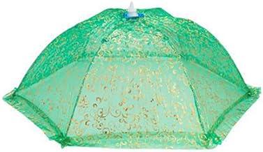QXM Opvouwbare paraplu-afdekkingen ademende Practical Meal Covers Eettafel Fly Food Covers, Green