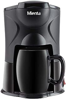 Mienta CM31416A 1 Cup Coffee Maker, 300 Watt - Black