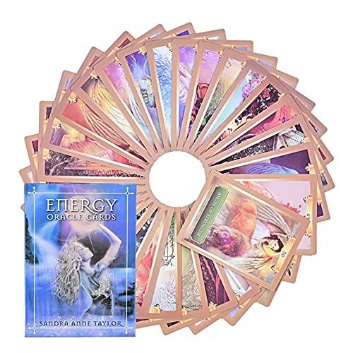 ACCLD Tarot Card Mysterious Energy and Power Oracle Cards Deck Cartas de Tarot en inglés para Mujeres Juego de Mesa