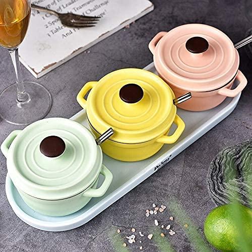 XHAEJ Colore Zucchero Ciotola Salt Shaker Stagioning Spice Jar Condimento Bottiglia 3 Pezzi Set Cucina Domestica Condimento Deposito Barattolo con Vassoio, Contenitore condimento