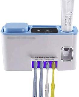 SOOTOP Porte-Brosse /à Dents UV St/érilisateur de Brosse /à Dents UV Distributeur de Dentifrice Mural Porte-Brosse /à Dents Automatique Porte-Dentifrice avec Autocollant