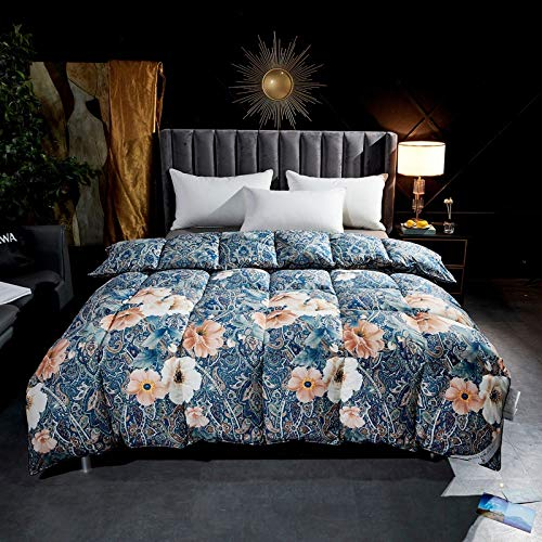 BAIHAO Duvet Cotton Winter Feather Down Duvet Luxurious Hotel Quality Hypoallergenic Comforter Quilt with 100% Down-proof Cotton Shell King Size Feather Duvet