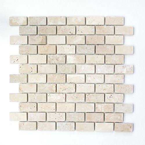 mosaico azulejos piedra natural beige mármol Brick Chiaro Travertine Antique para suelo pared baño inodoro ducha cocina azulejos Espejo Mostradores cubierta para bañera. Mosaico Matte mosaico placa