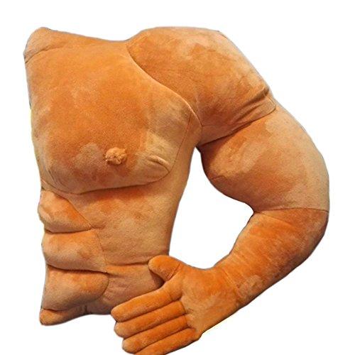 Bulary Boyfriend Arm Muscle Shaped Plüsch Kissen Halten Kissen Mann Umarmung Körper Warm Braun Bett Schlafkissen Rückenkissen Haarkissen