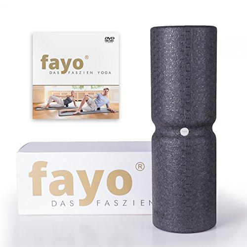 Liebscher & Bracht FAYO Faszienrolle mit Umlaufrille zum Training der Faszien, ideal für Balance- oder Regenerationsübungen, 38 cm