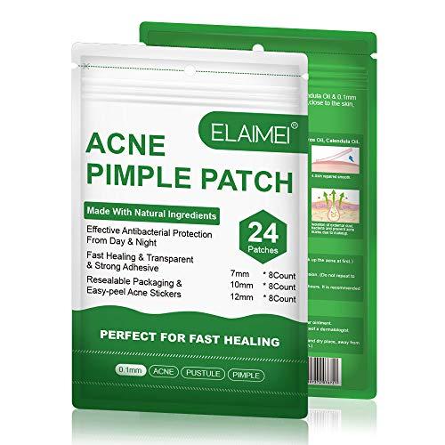 Acne Pimple Patch, Acné Espinilla Patch, Parches Para Espinilla, parches de Puntos Hidrocoloides Invisibles, Impermeable y Antibacteriano Parches (2 * 24 Counts)
