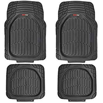 MotorTrend FlexTough Tortoise – Heavy Duty Rubber Floor Mats