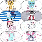 8Pcs Cute Animal Sleep Mask for Girls Cat Fox Bear Sleep Eye Mask Cute Blindfold Soft Eyeshade Eye Cover for Kids Girls Women Home Sleeping Traveling