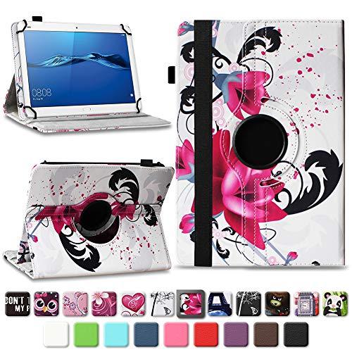 NAmobile Schutzhülle kompatibel für Huawei MediaPad T1 T2 T3 T5 10 Tablet Hülle Tasche Schutzhülle Case 360 Drehbar, Farben:Motiv 7