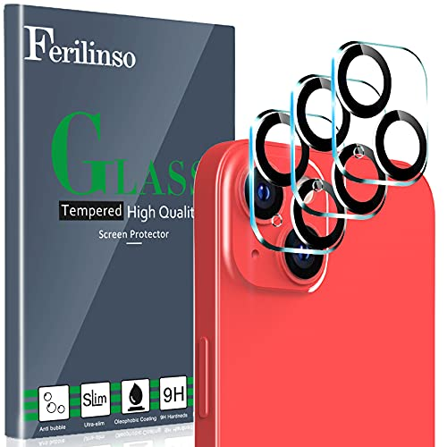Ferilinso Designed for iPhone 13 Camera Lens Protector, Designed for iPhone 13 Mini Camera Lens Protector, 3 Pack 9H Tempered Glass, Night...
