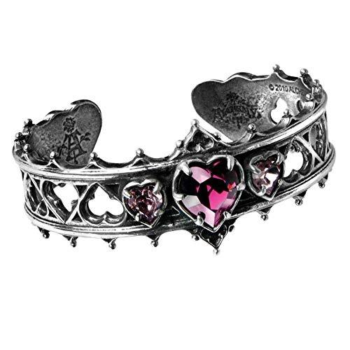 Gothic rotes Herz Heart Armband Armreifen Neo Viktorianisch