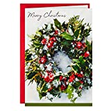 Hallmark Boxed Christmas Cards, Snowy Wreath (40 Cards and Envelopes)