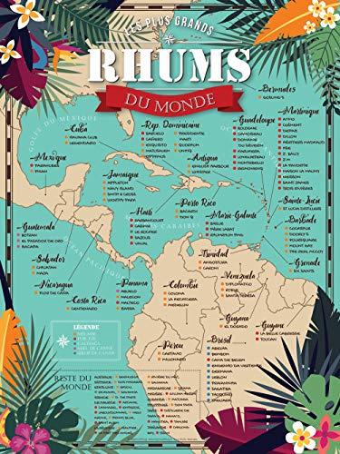 puissant BigMouthFrog Affiche Vintage Affiche Vintage Carte du Monde Rome 30 × 40 cm (A3)