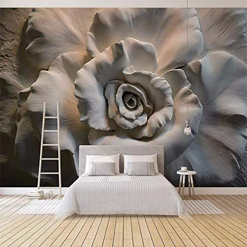 Fototapete 3D Tapete Geprägte Rose3D Effekt Vliestapete Wandbilder Wanddeko