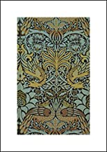 William Morris 14x20 Art Print - Peacock and Dragon Woven Wool Furnishing Fabric