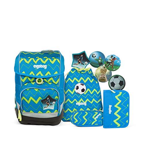 Ergobag cubo LiBäro, ergonomischer Schulrucksack, Set 5-teilig, 19 Liter, 1.100 g, blau