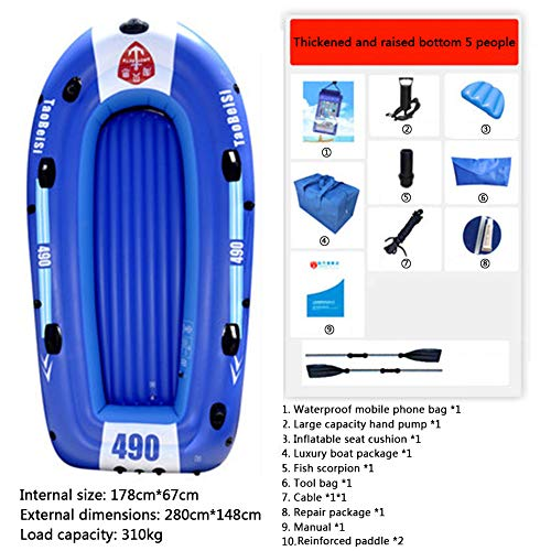 Purchase HEIFEN Light Inflatable Boat with Paddles, Inflatable Marine Boats, Essential for Fishing, ...