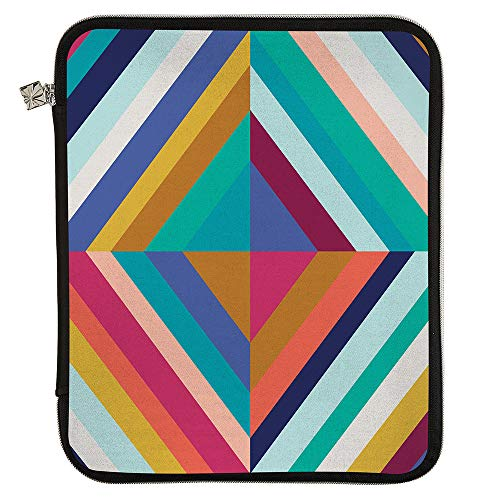 Erin Condren Planner Folio - Oh So Retro Colorful - Medium (9' x 11') - Organize on The Go with Storage for Books, Planners, Notebooks. Use as Laptop Case with Pen Holder, Platinum Zipper
