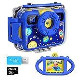 Ourlife Kids Camera, Selfie Kids Waterproof Digital Cameras for Kids 1080P 8MP 2.4