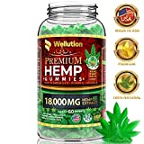 Hemp Gummies 18,000 MG High Potency Premium - 300 Per Fruity Gummy with Organic Hemp Oil | Natural Hemp Candy Supplements for Pain, Anxiety, Stress & Inflammation Relief | Promotes Sleep & Calm Mood